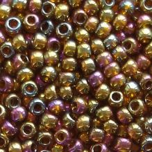 Toho 8/0 Seed Beads Gold Lustred Dark Topaz 459 - 10 grams